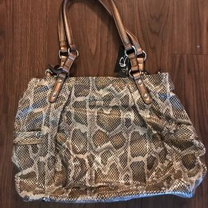 Snakeskin B Makowsky Bag
